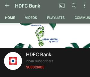 HDFC Bank Youtube Handle | Marketing Strategy of HDFC Bank | IIDE