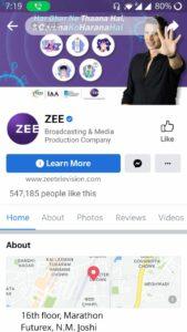 Zee Facebook Page | Marketing Strategy of Zee | IIDE