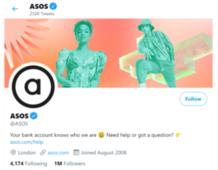 asos twitter - marketing strategy of asos | IIDE