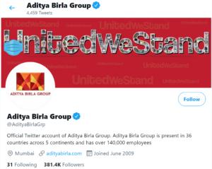 Aditya Birla Group Twitter Handle | IIDE