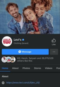 Levi's Facebook Page | Marketing Strategy of Levi's | IIDE