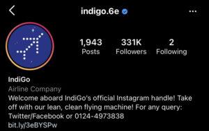 Indigo Instagram Page | Marketing Strategy Of Indigo Airlines 2021 | IIDE