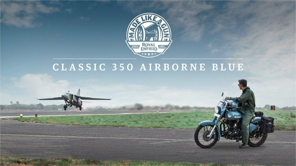 Royal Enfield Classic 350 Airborne Blue   Marketing strategy of Royal Enfield   IIDE