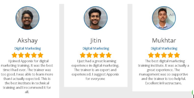 ppc Courses in bangalore - apponix student reviews