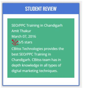 ppc Courses in chandigarh - cbitss student review