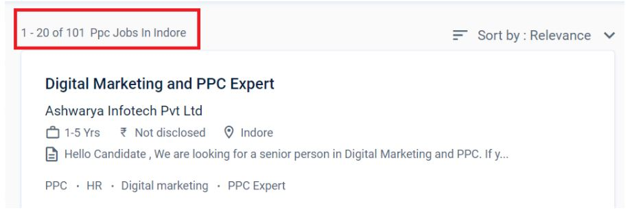 ppc Courses in indore - ppc job openings