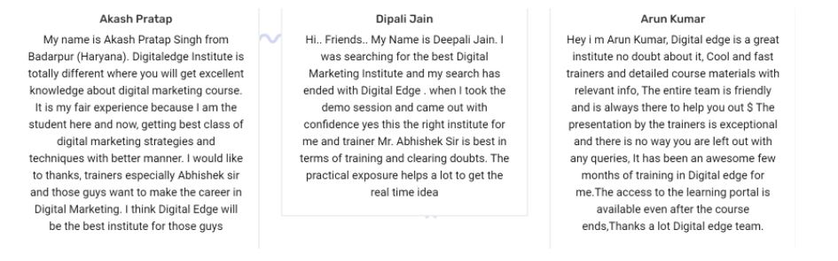 ppc Courses in noida - digital edge student reviews