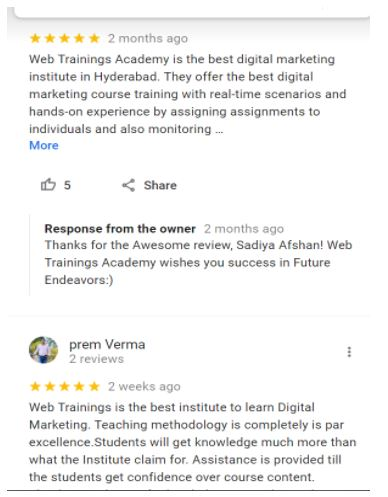 ppc Courses in noida - web training noida student reviews