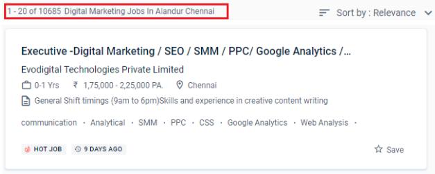 Digital Marketing Courses in Alandur - Naukri.com Job Opportunities