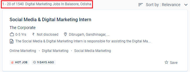 Digital Marketing Courses in Balasore - Naukri.com Job Opportunities