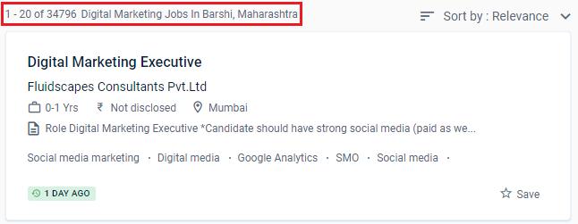 Digital Marketing Courses in Barshi - Naukri.com Job Opportunities