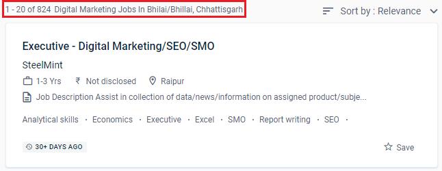 Digital Marketing Courses in Bhilai - Naukri.com Job Opportunities